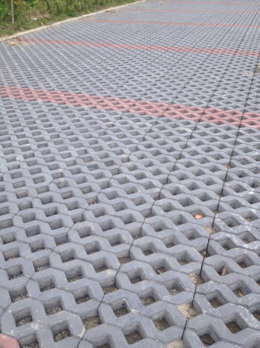 当涂襄城河停车位植草砖工程