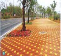 高淳丹阳湖路路面砖工程