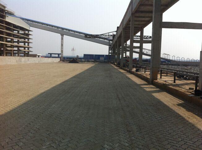 池州牛头山码头联锁块工程